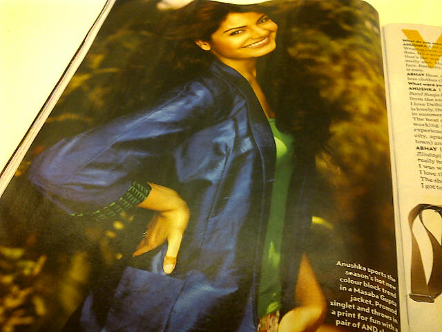 Blue, raw silk jacket by Masaba Gupta